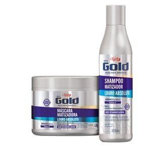 Matizador Niely Gold Shampoo+ Máscara