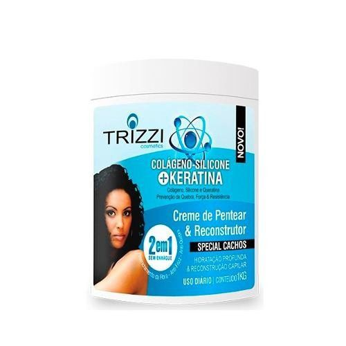Creme De Pentear 2em1 Trizzi Colágeno Keratina 1k