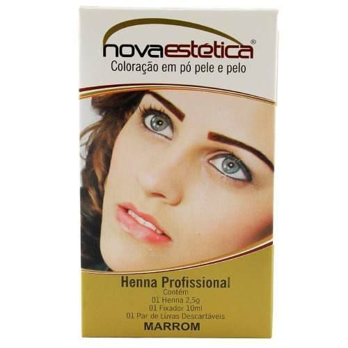Kit Henna Para Sobrancelha Nova Estética Marrom