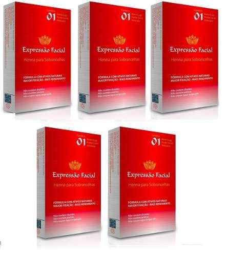 Kit Henna Expressão Facial 2.5g Com 5 Cores A Escolha