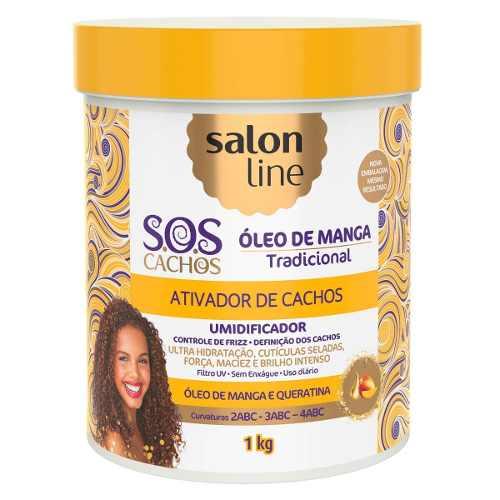 Ativador De Cachos Sos Umidificador Salon Line 1kg