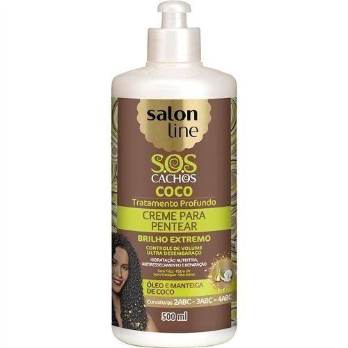 Creme Para Pentear Salon Line S.o.s Coco 500 Ml