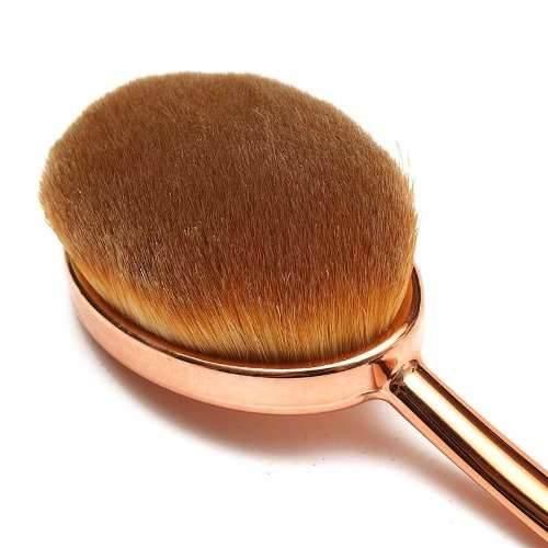 Pinceis Escova Oval Maquiagem Contorno Base ( 5 Pinceis )
