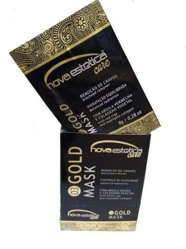 Máscara Facial Gold Nova Estetica Care Sache 8g