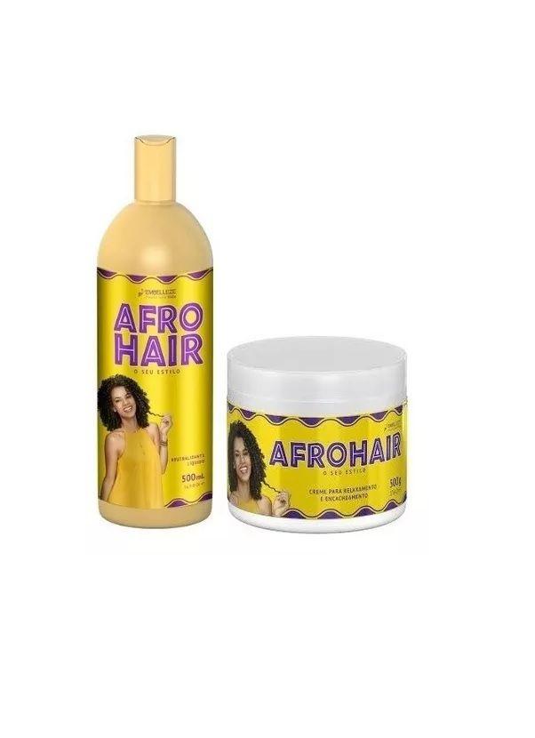 Afrohair Relaxamento E Encacheamento 2 Produtos