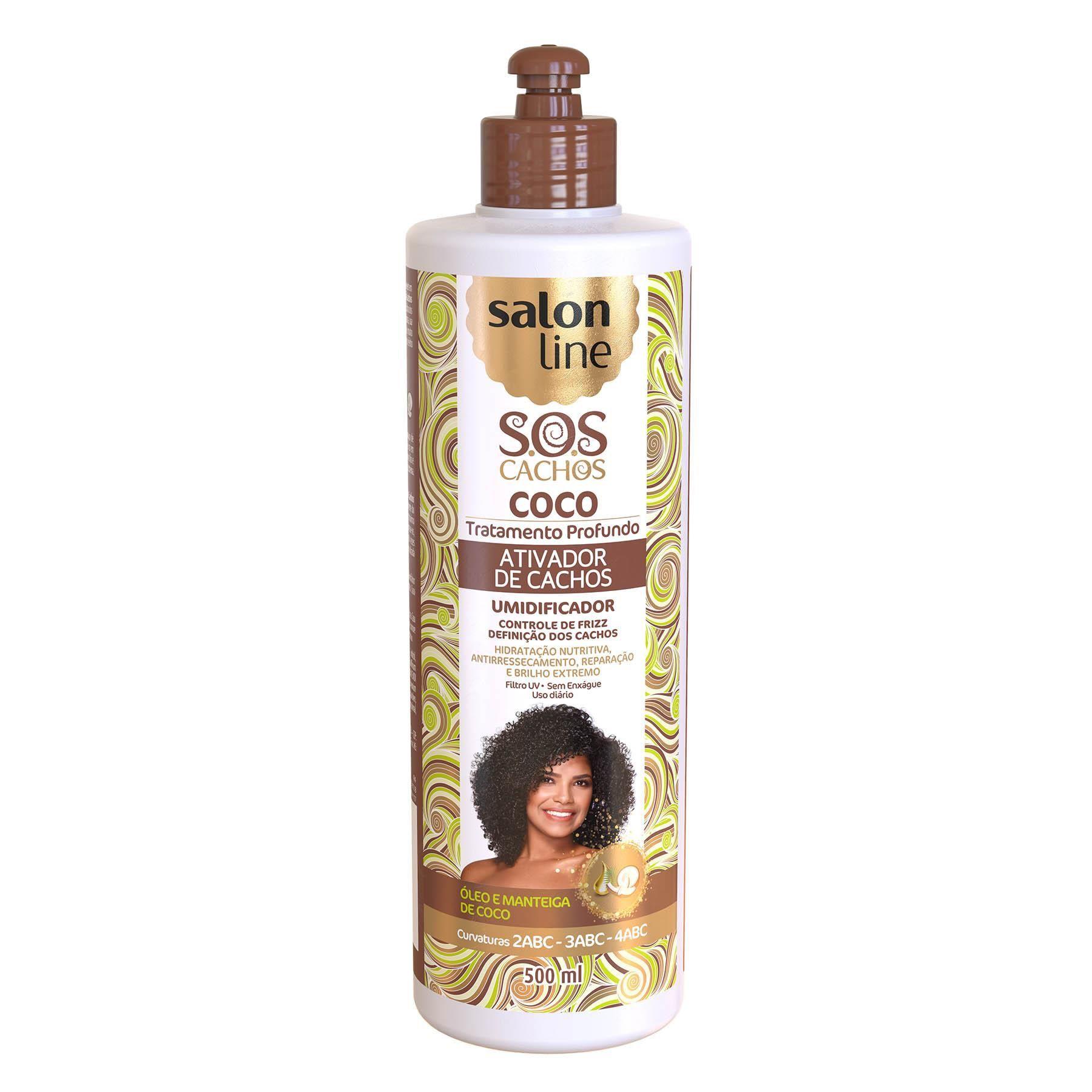 Ativador De Cachos salon line Coco S.o.s Tratamento Profundo 500 Ml