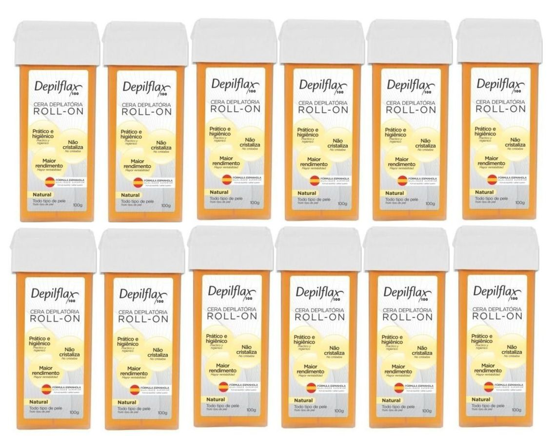 Cera Depilflax 100g Roll-on Natural Caixa C/24 Unidade sae
