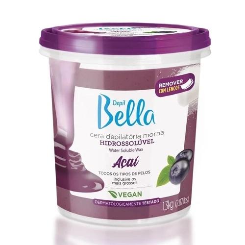 Cera Hidrossolúvel Depil Bella 1,3kg Acai