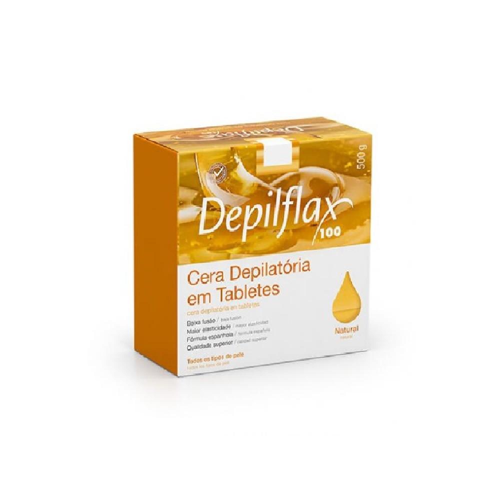 Cera Quente Depilatória Depilflax Natural 500g