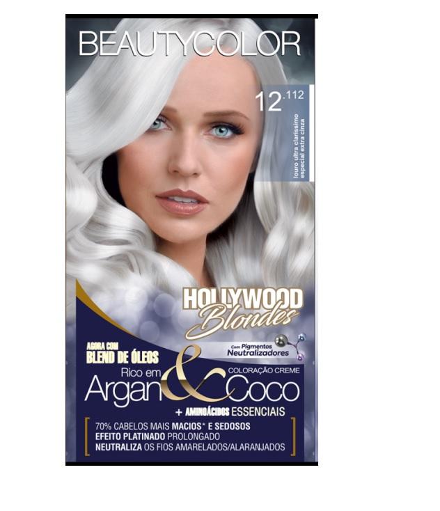 Coloração Beautycolor Kit Louro Ultra Claríssimo Especial Extra Cinza - 12.112