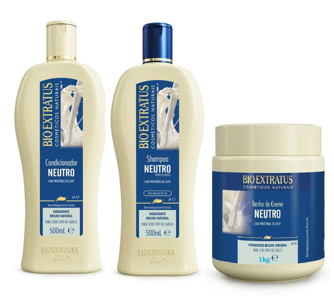 COMBO BIO EXTRATUS NEUTRO - BRILHO NATURAL