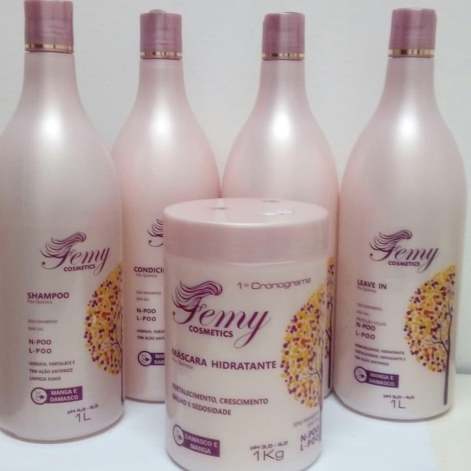 Combo Capilar Femy  Pos-Quimica 5 Produtos