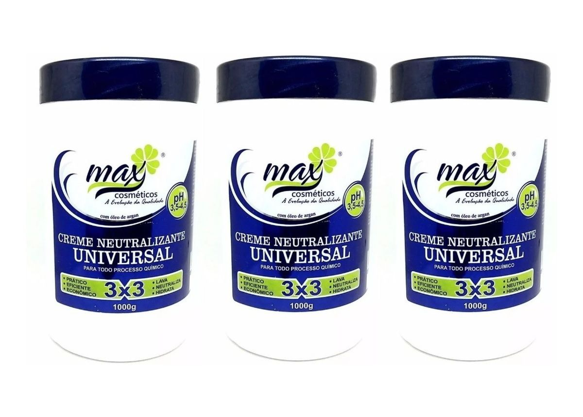 Combo Creme Neutralizante Universal 3 Em 1 Max 3unidades
