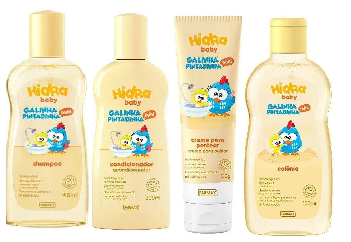 Combo Hydra Baby Galinha Pintadinha 4 produtos