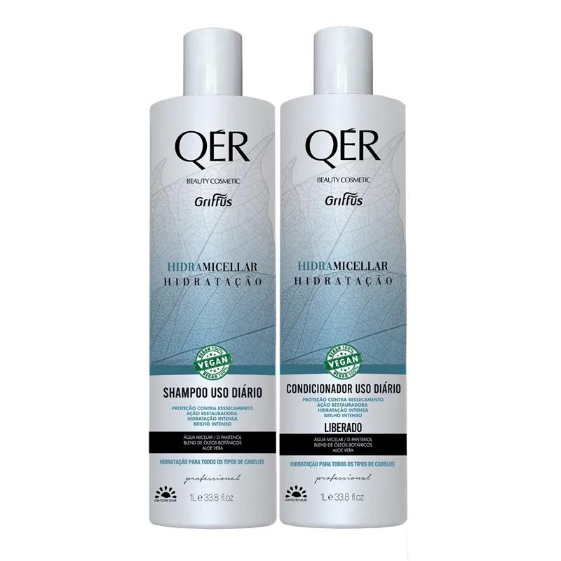 Combo Shampoo+condicionador Griffus Qér 1l hidra Micellar