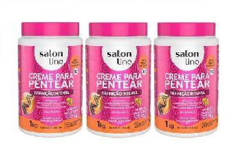 Creme Para Pentear Salon Line Definiç Intensa 1kg ( 3 Potes)