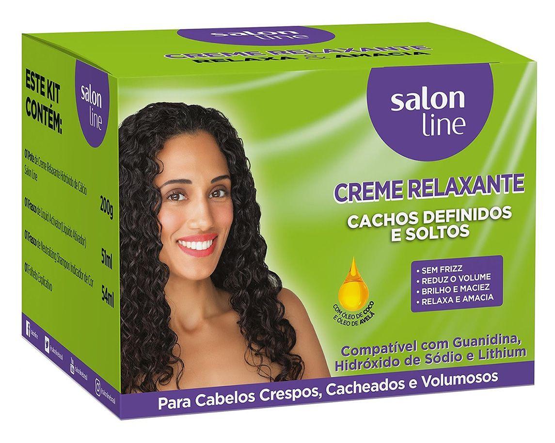 Creme Relaxante Salon Line Cachos Definidos E Soltos