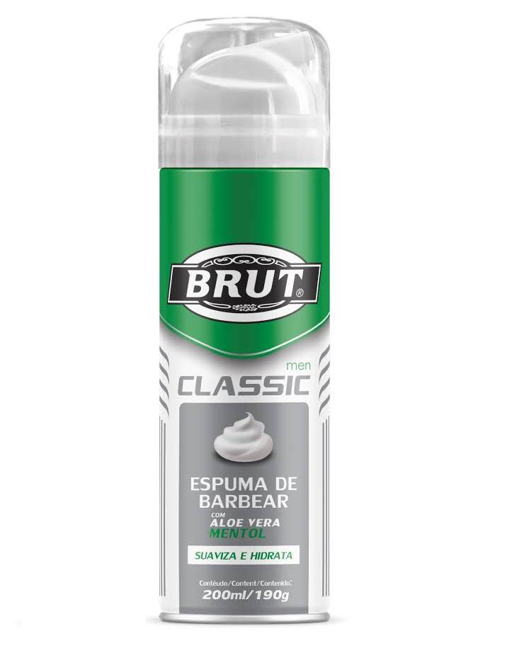 Espuma De Barbear Brut Classic 190g