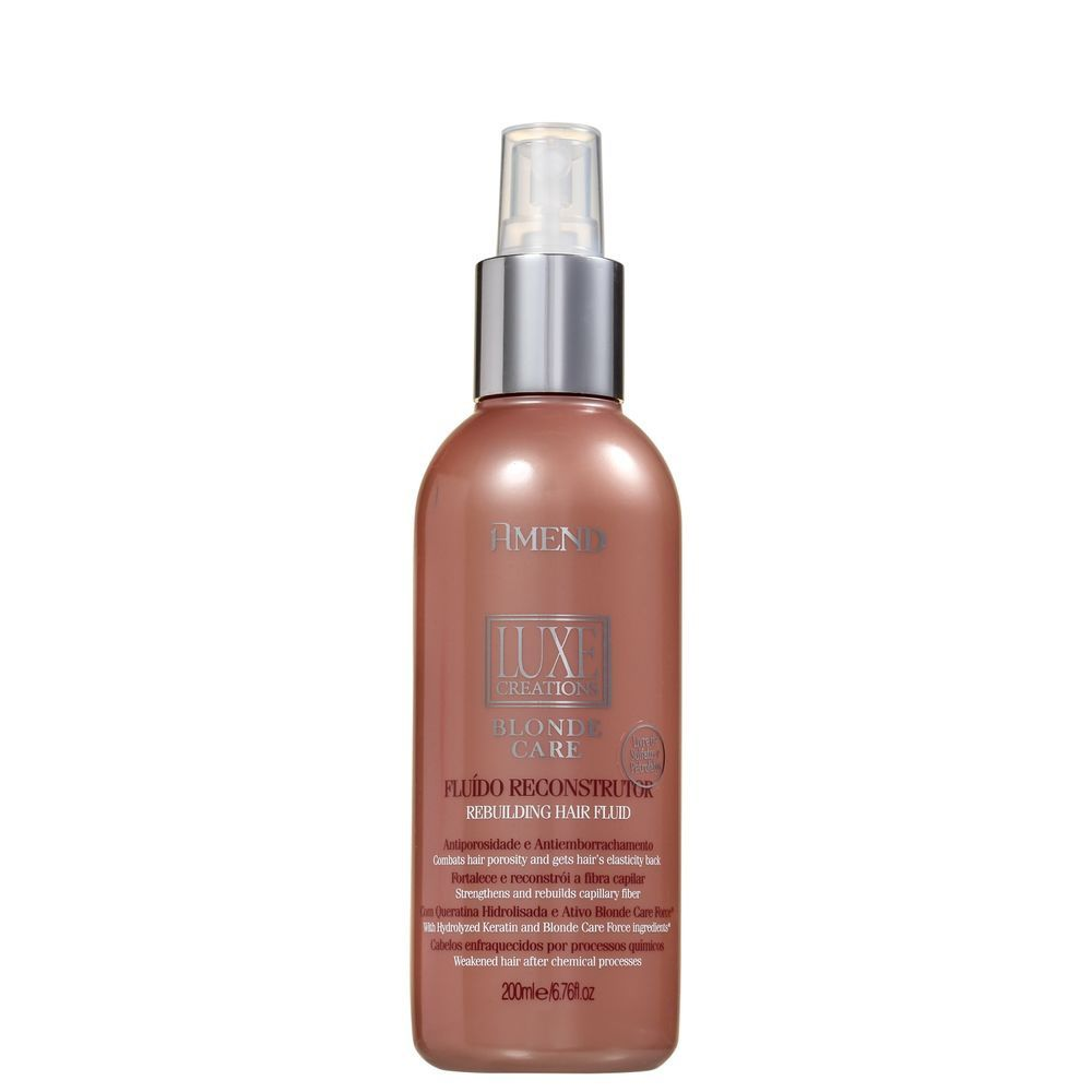 Fluído Reconstrutor Amend Luxe Creations Blonde Care 200ml