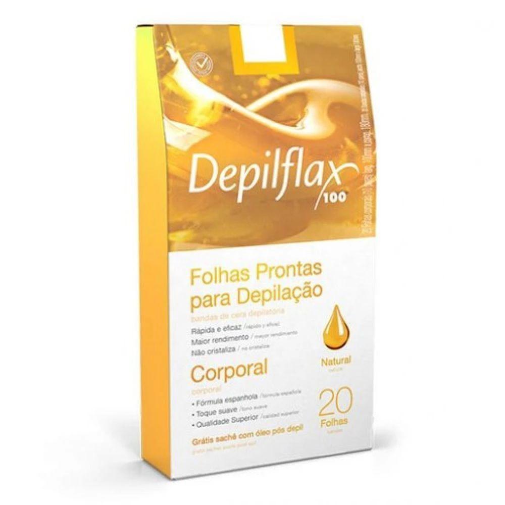 Folhas Depilatórias Depilflax  Prontas Corporal Mel C/20