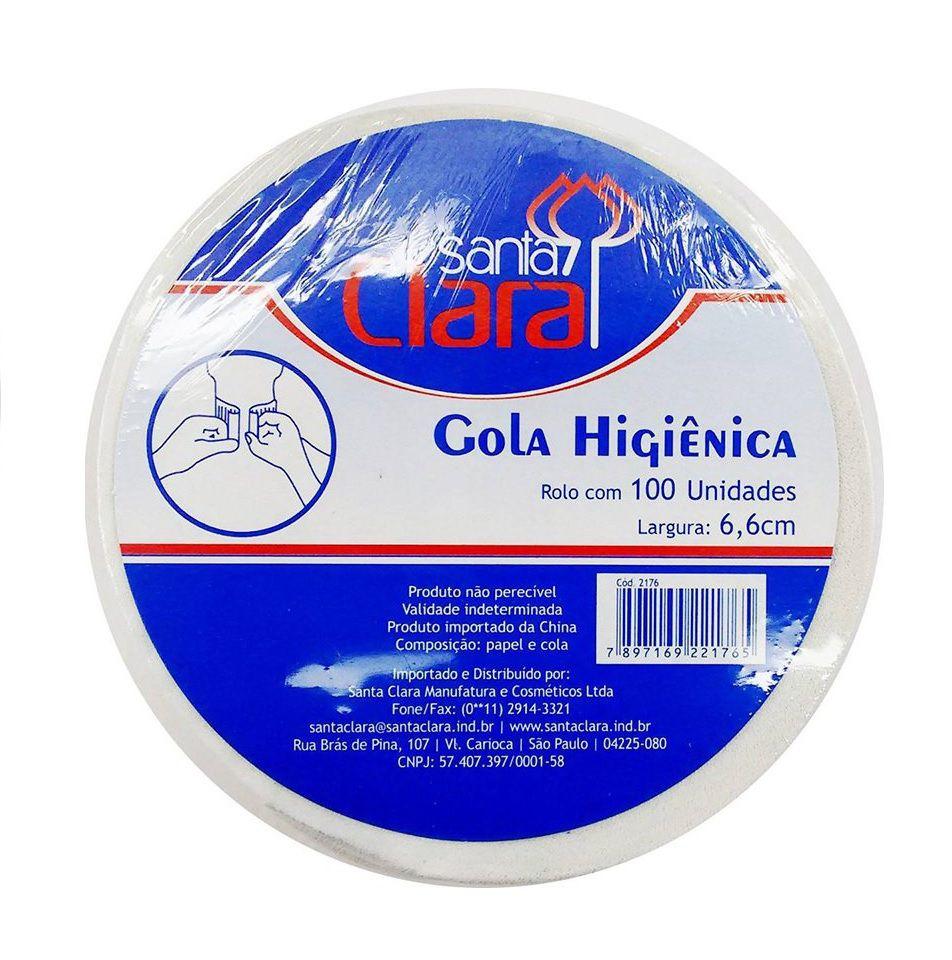 Gola Higiênica Rolo com 100 un Largura: 6,6cm Santa Clara