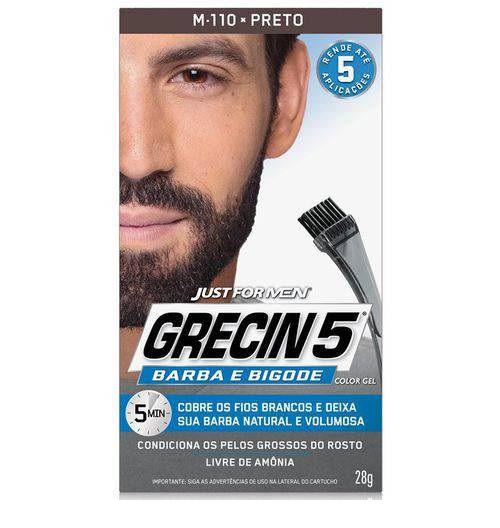GRECIN 5 Barba e bigode Cor:Preto
