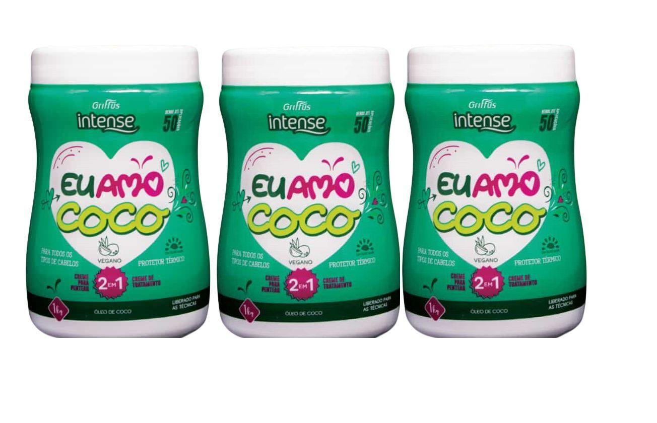 Griffus 2 Em 1 Coco- Creme De Tratamento Creme Para Pentear 3und