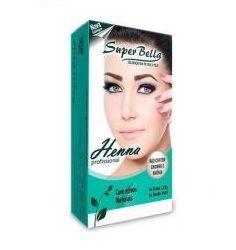 Henna Para Sobrancelhas 1.25g Super Bella + Fixador Cas medio