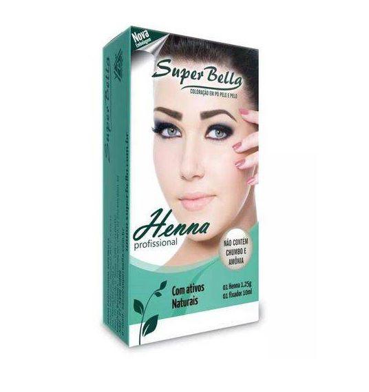 Henna Para Sobrancelhas 1.25g Super Bella + Fixador cast claro
