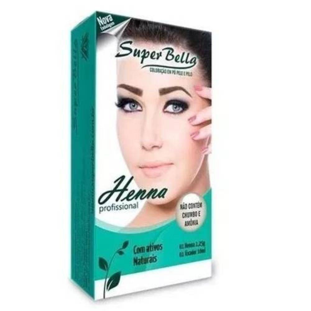 Henna Para Sobrancelhas 1.25g Super Bella + Fixador Marron