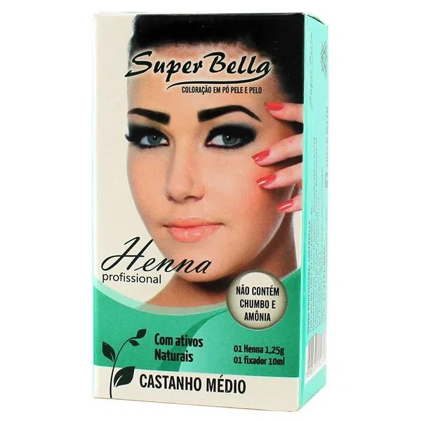 Henna Super Bella Castanho Médio 1.25g