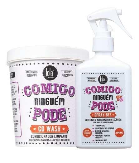 Kit Condicionador Limpante + Spray Comigo Ninguém Pode Lola