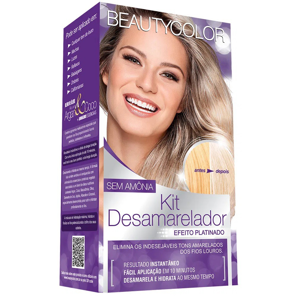 Kit Desamarelador Beautycolor Sem Amônia