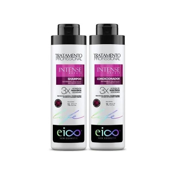 Kit Eico Intense Repair Shampoo + Bálsamo 1000ml