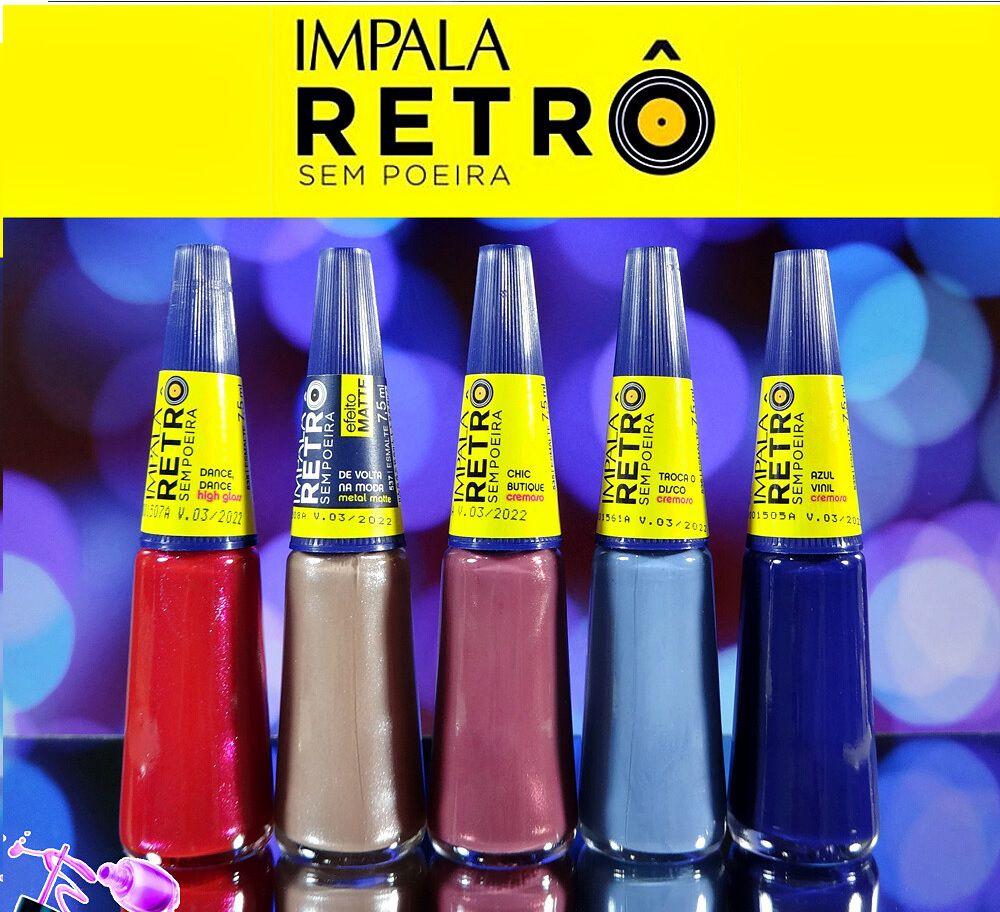 Kit Esmaltes Impala Retrô - 5 Cores