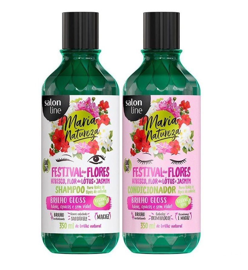 Kit Festival das Flores Shampoo + Condicionador Maria Natureza Salon Line