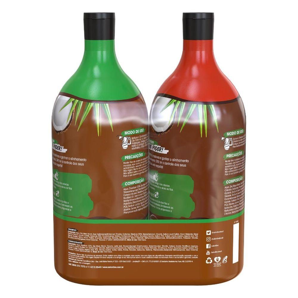 Kit Hidratação Liso Extremo Shampoo e Condicionador Litrão Salon Line