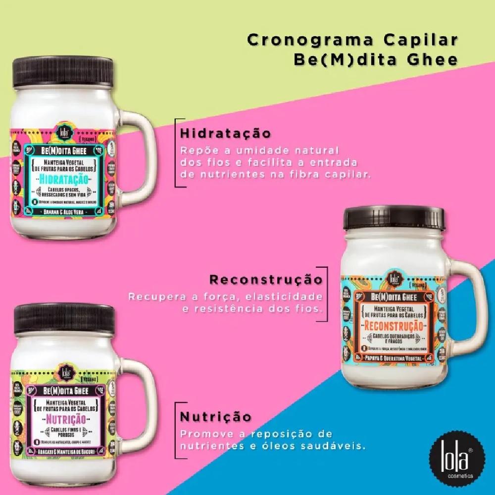 Kit Lola Cronograma Capilar Be(M)dita Ghee 3 produtos