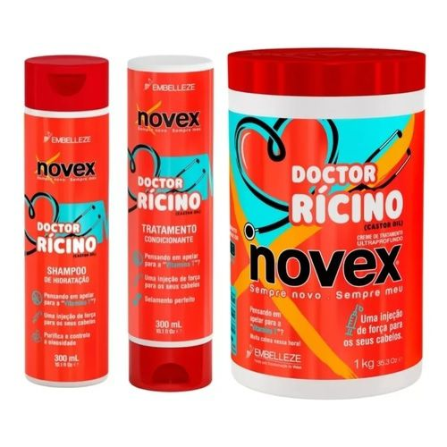 Kit Novex Doctor Rícino C/03 Unidades