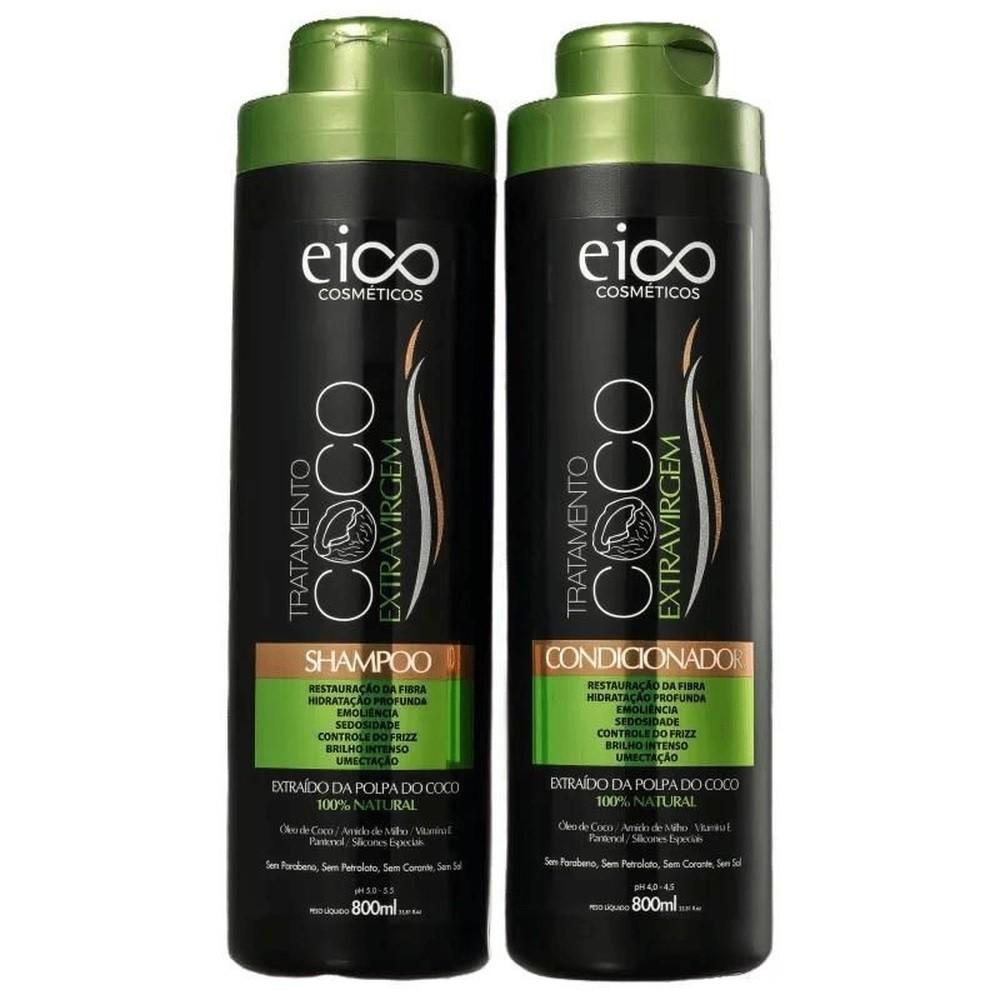 Kit Shampoo + Condicionador Coco Extra Virgem Eico 2 x 800ml