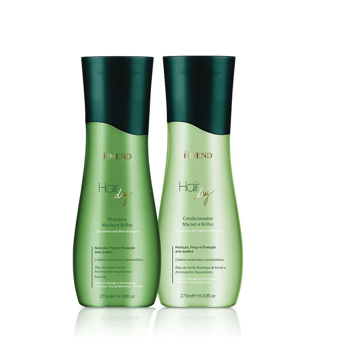 Kit Shampoo + Condicionador Hair Dry Nutrição E Força Amend