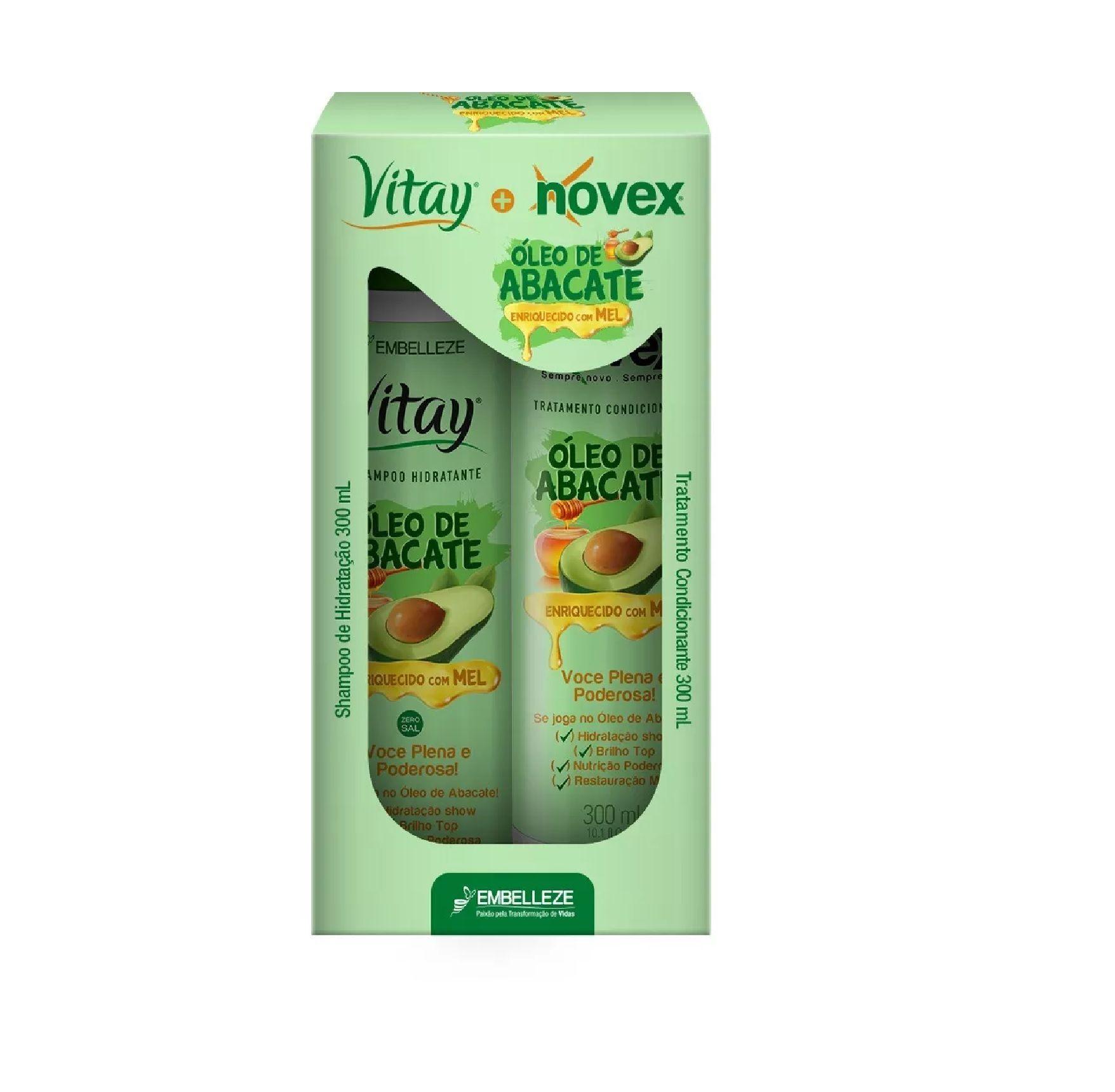 Kit Shampoo e Condicionador Vitay  Novex Óleo de Abacate