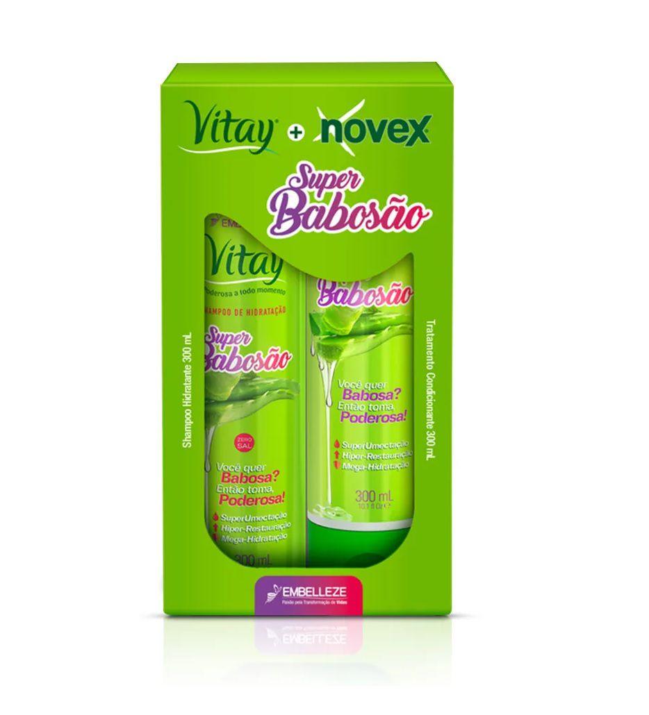 Kit Shampoo e Condicionador Vitay Novex Super Babosão