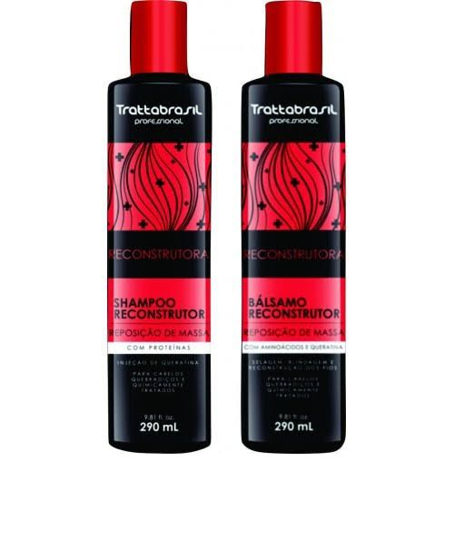 Kit Shampoo Reconstrutor + Bálsamo Reconstrutor Trattabrasil