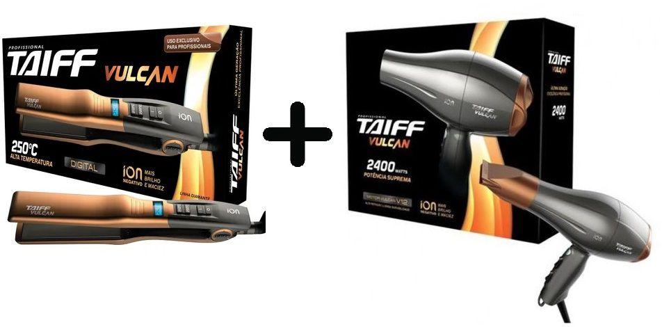 Kit Taiff Vulcan Secador 2400w 127v + Chapa Action Biv