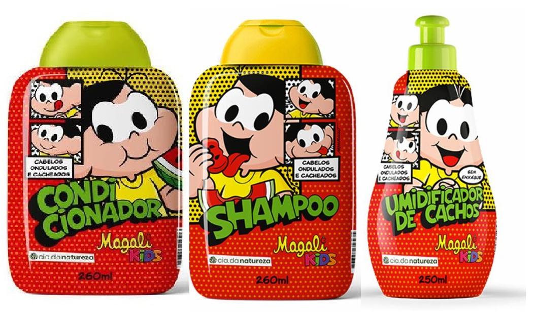 Kit Turma Da Mônica Magali Kids - 3 produtos