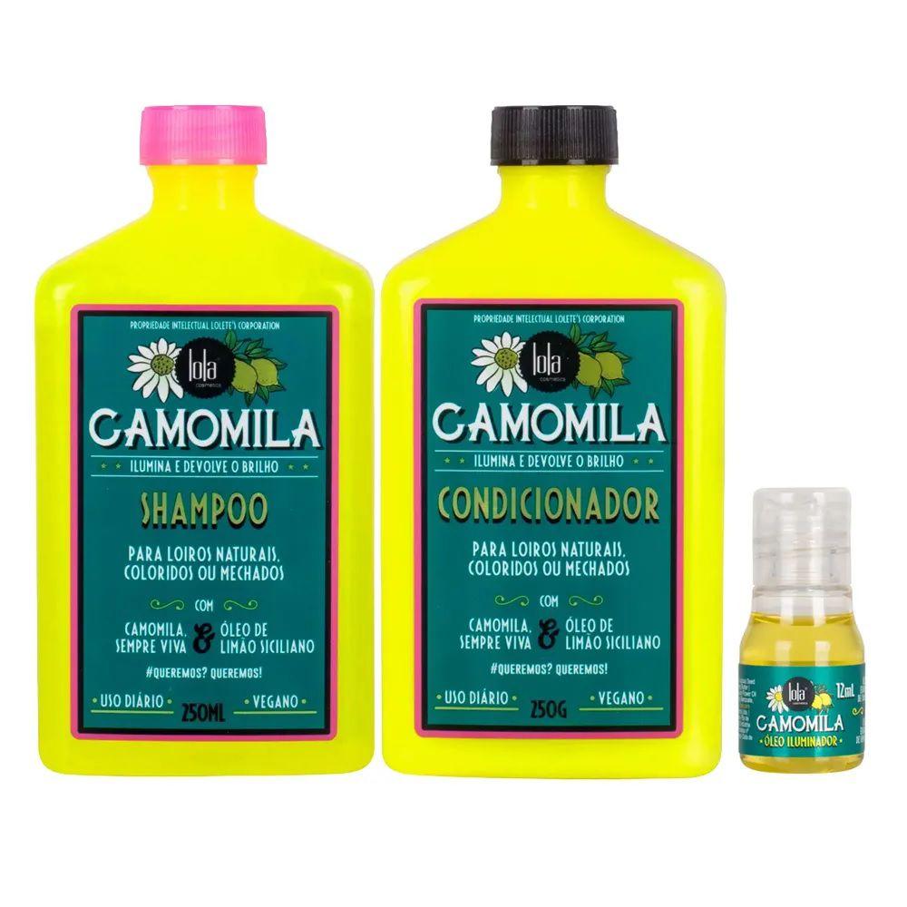 Lola Cosmetics Camomila Kit - Shampoo + Condicionador + Óleo
