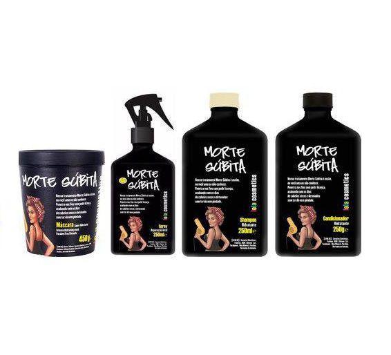 Lola Cosmetics - Kit Morte Súbita (Shampoo 250ml + Cond 250g + Másc 450g + Rep Total 250ml)