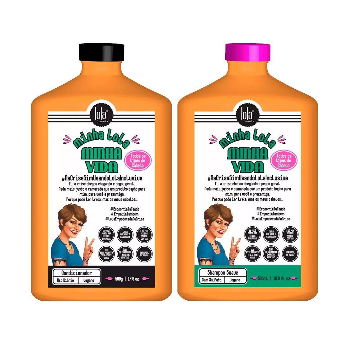 Lola Minha Lola  Minha Vida Kit Shampoo e Condicionador - 2x500ml