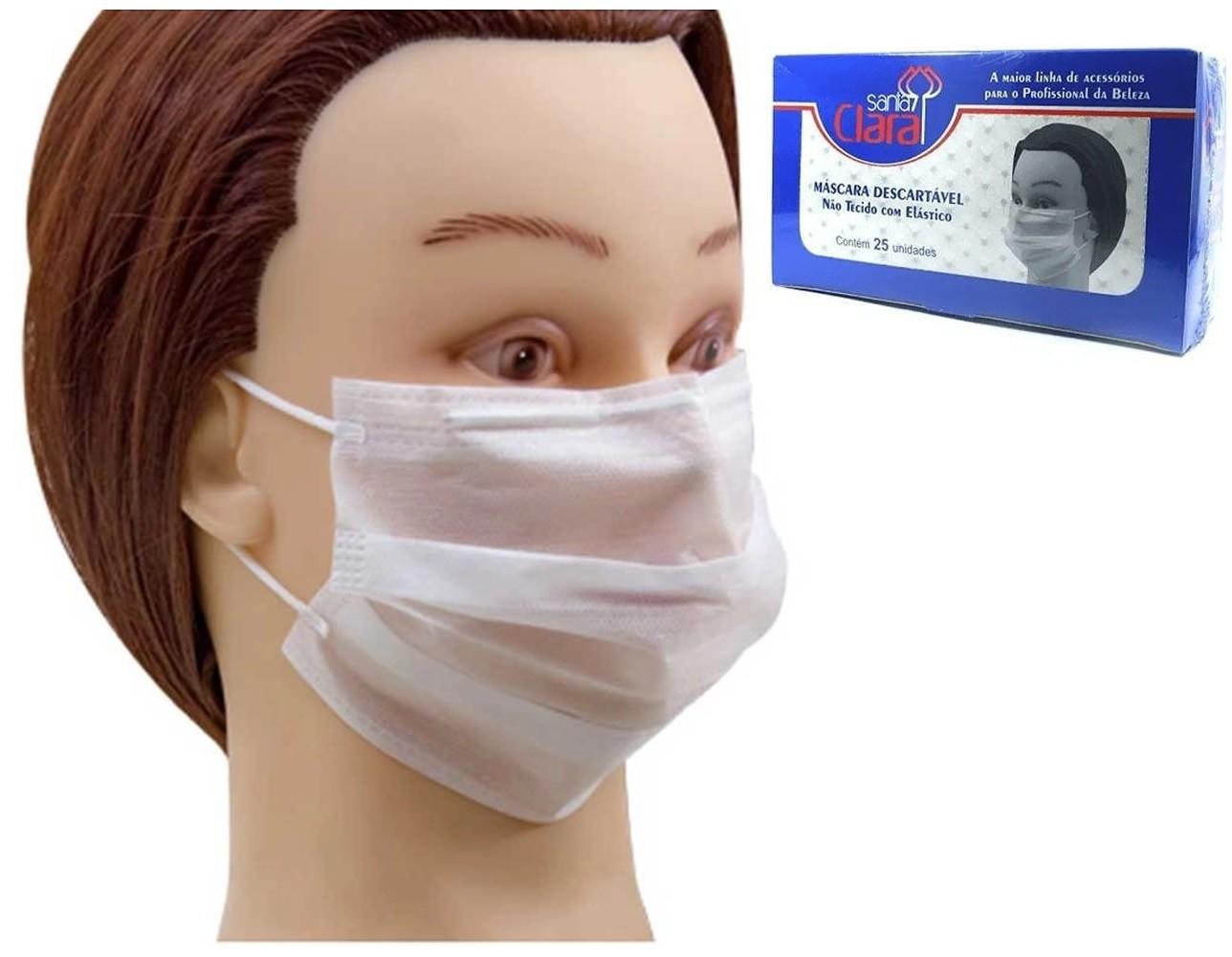 Máscara Descartável Com 25 Unidades Santa Clara